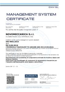 Certificazione ISO 2019